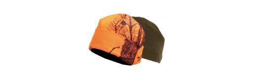bonnet réversible Somlys Camo orange et vert