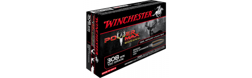 cartouches à balle Winchester 308 Win Power Max Bonded 150 gr