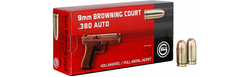 Munitions Geco 9 mm Browning Court .380 Auto