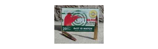 Cartouches Partizan 8X57 JS Match FMJ BT 200 gr