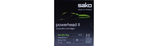 Cartouches Sako 300 Win Mag Powerhead 2 180 gr