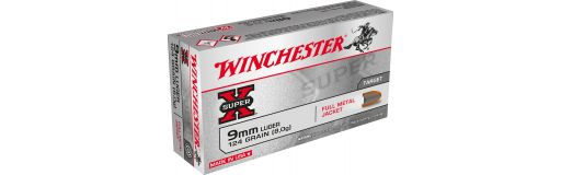 Munitions Winchester 9 mm Luger FMJ 124 gr