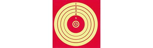 cible de tir carton 14x14 paquet de 100