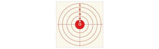 cible tir en carton 14x14