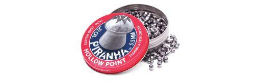 plombs 5,5 mm Crosman Piranha Hollow Point