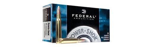 Cartouches à balle Federal Power Shok 270 WSM Soft Point