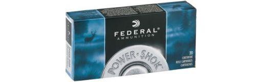 cartouches à balle Federal Power Shok 222 Rem Soft Point