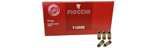 munitions Fiocchi 9x19 FMJ 115 gr