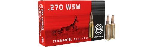 cartouches à balle Geco 270 WSM demi-blindée