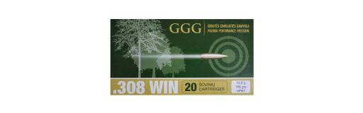 cartouches à balle GGG 308 Win HPBT 168gr