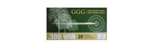 cartouches à balle GGG 308 Win HPBT 175gr