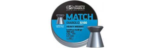 plombs 4,5 mm JSB Blue Match S100 Heavy Diam 4,49