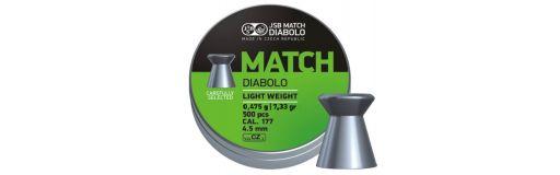 plombs 4,5 mm JSB Green Match Light Diam 4,50