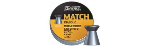 plombs 4,5 mm JSB Yellow Match Middle Diam 4,5