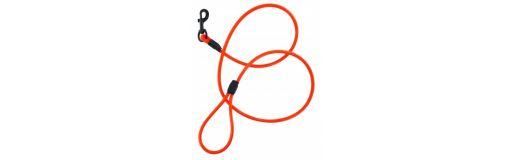 laisse Ronde PVC orange Fuzyon