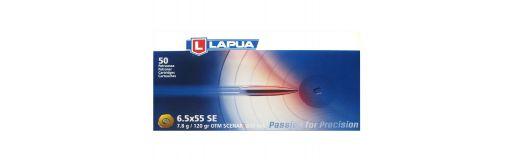 cartouches à balle Lapua 6.5x55 SE OTM Scenar-L 130 gr