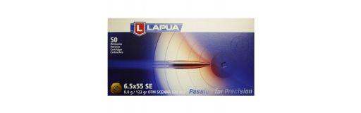 cartouches à balle Lapua 6.5x55 SE OTM Scenar 123 gr