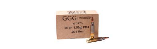 Munitions GGG 223 Rem FMJ 55 gr