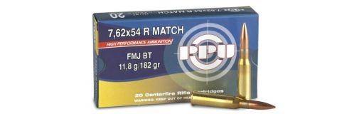 cartouches à balle Partizan 7,62x54R Match FMJ BT Sniper