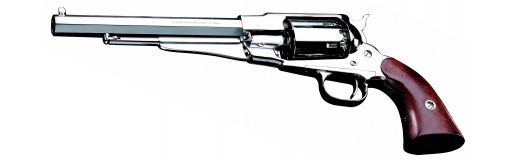 revolver poudre noire Pietta 1858 Remington Laiton Nickelé