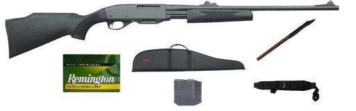Carabine à pompe Remington 7600 synthétique 30-06 pack promo