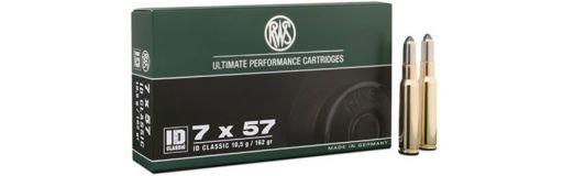 cartouches à balle RWS 7x57 ID Classic 162 gr