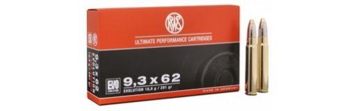 cartouches à balle RWS 9,3x62 Evo 291 gr