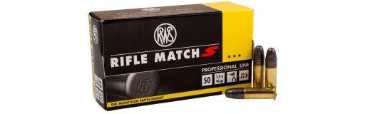 cartouches à balle 22LR RWS Rifle Match S