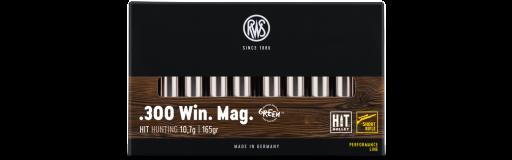 Cartouches à balles RWS Short Rifle HIT .300 Win Mag