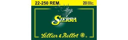 cartouches à balle Sellier Bellot 22-250 Rem SBT