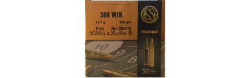 cartouches à balle Sellier Bellot 308 Win FMJ 180 gr