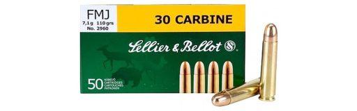 cartouches à balle Sellier & Bellot 30 Carbine FMJ