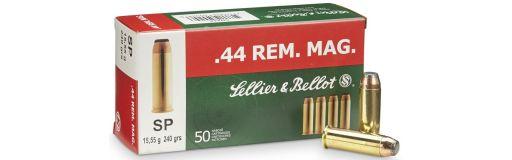 cartouches à balle Sellier & Bellot 44 Rem Mag SP 240 gr