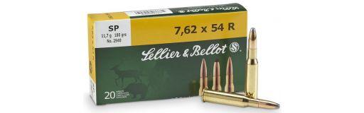 cartouches à balle Sellier & Bellot 7,62x54R SP