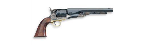 revolver poudre noire Uberti Colt Army 1860 Bronzé Barillet gravé