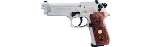 pistolet CO2 Umarex Beretta M92FS nickelé crosse bois