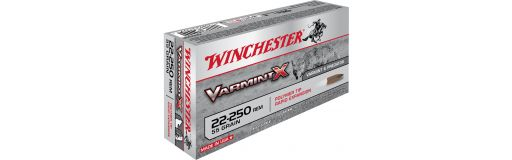 cartouches à balle Winchester 22-250 Rem VarmintX
