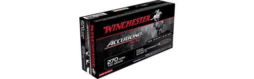 cartouches à balle Winchester 270 WSM Accubond CT