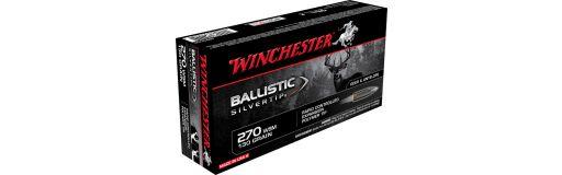 cartouches à balle Winchester 270 WSM Ballistic Silvertip 130 gr