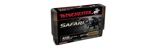 cartouches à balle Winchester 458WM Nosler Solid
