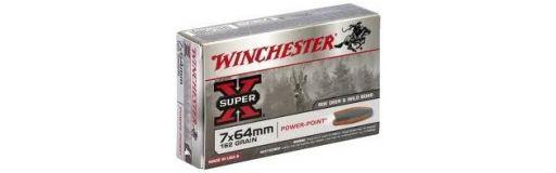 cartouche à balle Winchester 7x64 Power Point 162 gr