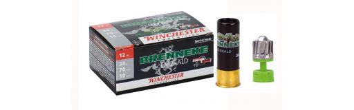 cartouches à balle Winchester Slug Brenneke Emerald