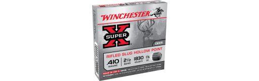 cartouches à balle Winchester Super X Slug Hollow Point Cal. 410