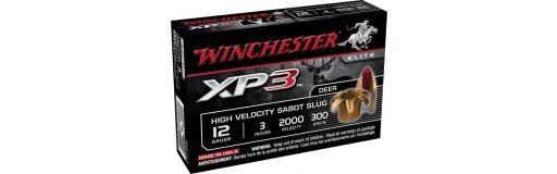 cartouches à balle Winchester XP3 Slug 12/76