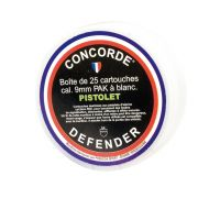Cartouches à blanc Concorde Defender 9 mm