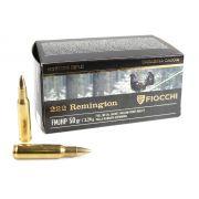 cartouches à balles Fiocchi HP 50 222 Rem FMJ