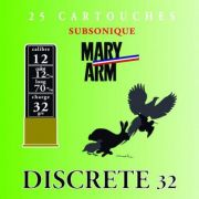cartouches à plomb Mary Arm Subsonic Discrète 32