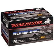 cartouches à balle Winchester 22LR Subsonic 40gr