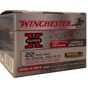 cartouches Winchester 22WM Hollow Point 40 gr